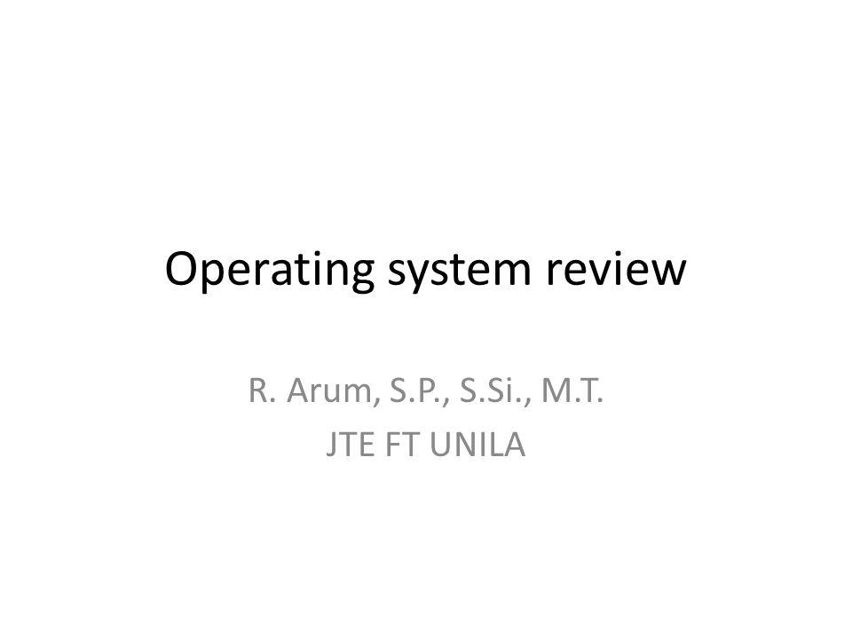 Konsep sistem operasi • Proses-proses.Konsep kunci.
