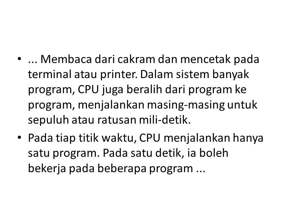 •...Membaca dari cakram dan mencetak pada terminal atau printer.