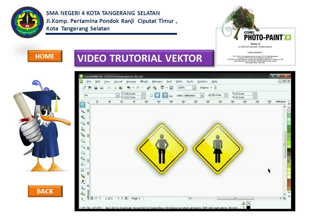 VIDEO TRUTORIAL VEKTOR BACK HOME SMA NEGERI 4 KOTA TANGERANG SELATAN Jl.Komp. Pertamina Pondok Ranji Ciputat Timur, Kota Tangerang Selatan