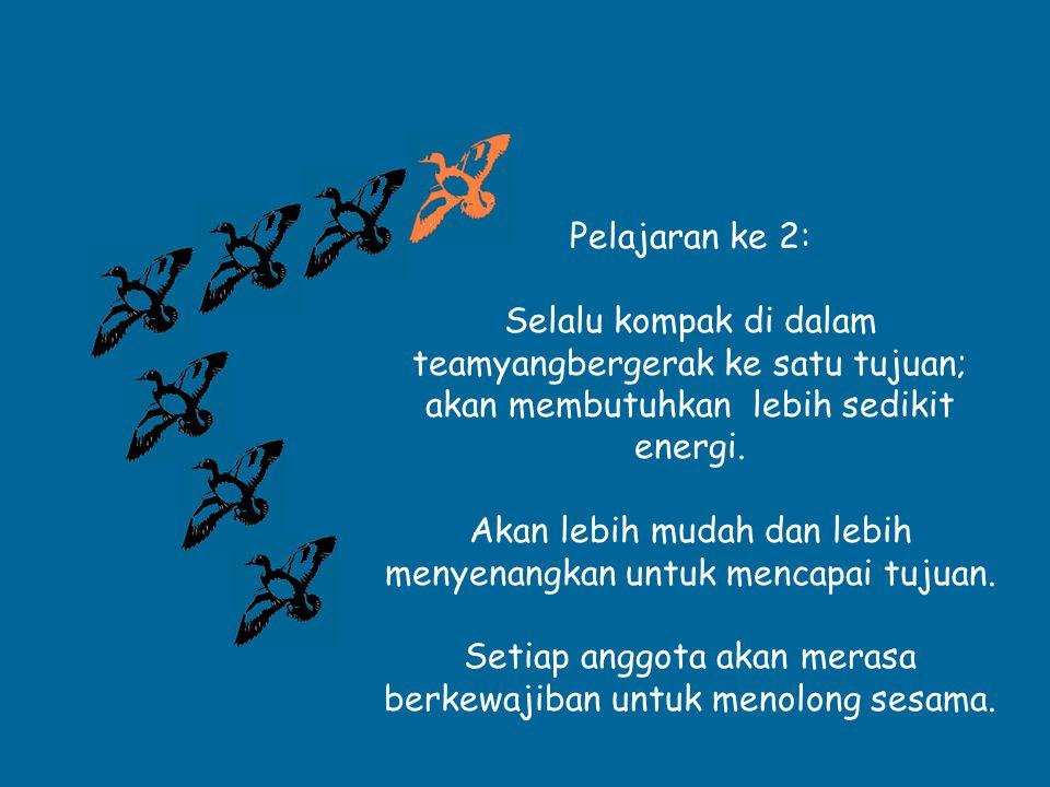 Jika kita kompak dan saling mendukung…...Jika kita menjiwai kerja sama yang baik..
