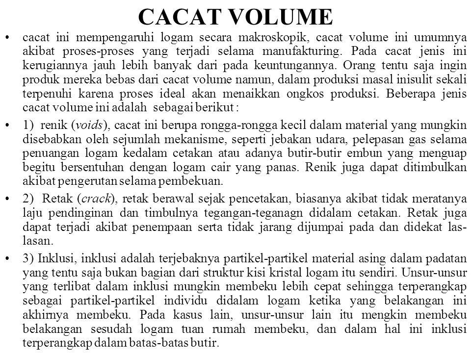 CACAT GARIS •cacat jenis ini terjadi ketika bidang- bidang atom tidak menempati kedudukan sempurna pada kisi. •Cacat jenis ini berkaitan erat dengan k