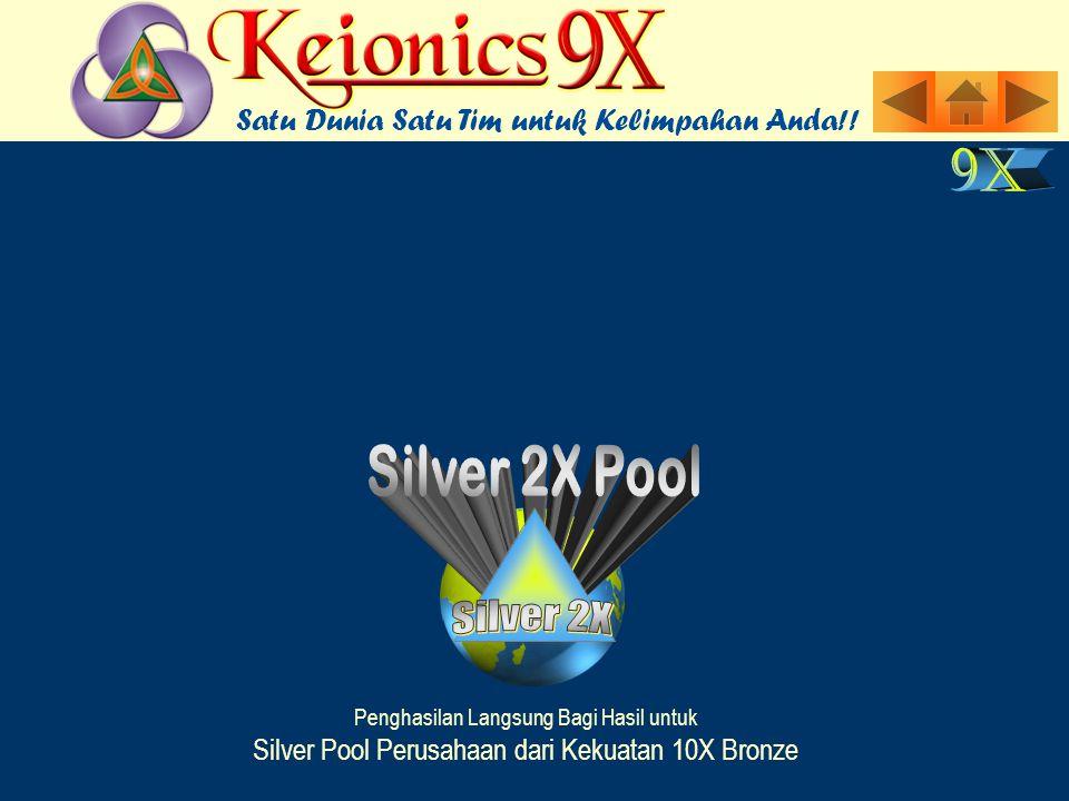 Penghasilan Langsung Bagi Hasil untuk Silver Pool Perusahaan dari Kekuatan 10X Bronze Satu Dunia Satu Tim untuk Kelimpahan Anda!!