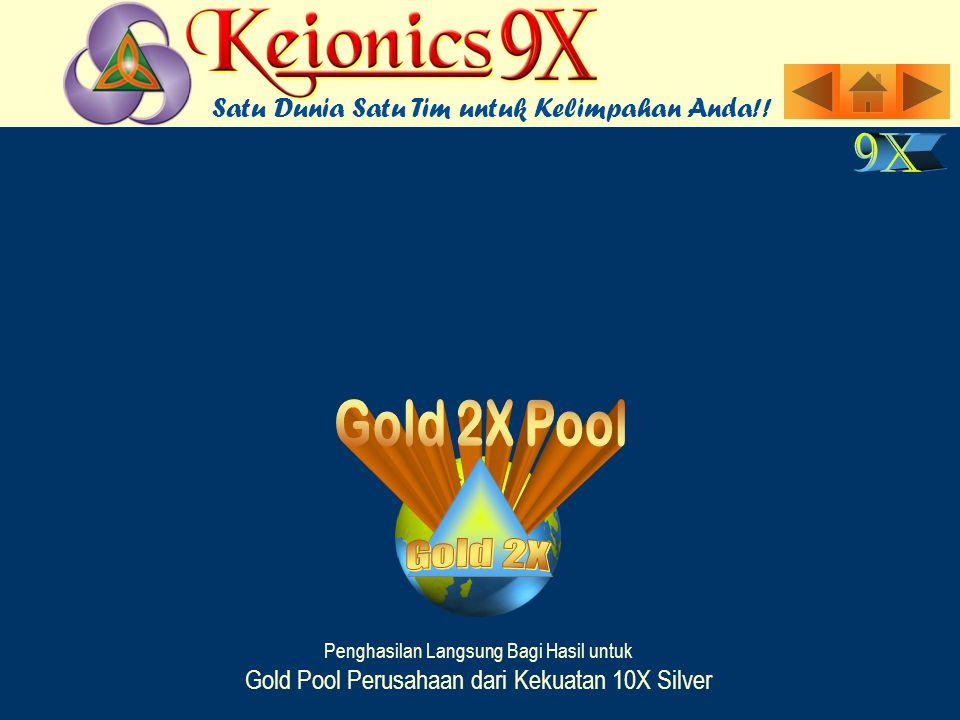 Penghasilan Langsung Bagi Hasil untuk Gold Pool Perusahaan dari Kekuatan 10X Silver Satu Dunia Satu Tim untuk Kelimpahan Anda!!