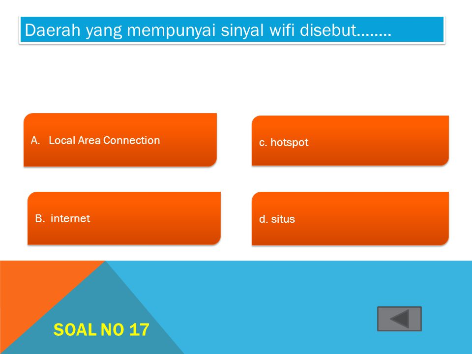 SOAL NO 16 A.User name dan alamat emailUser name dan alamat email A.User name dan alamat emailUser name dan alamat email B. Alamat email dan password