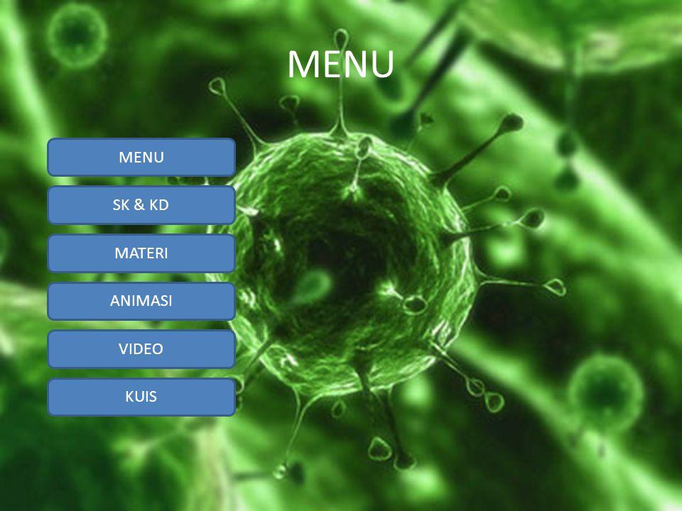 SK & KD MATERI ANIMASI VIDEO KUIS SK & KD Standar Kompetensi : 2.1 Memahami prinsip-prinsip pengelompokkan makhluk hidup.