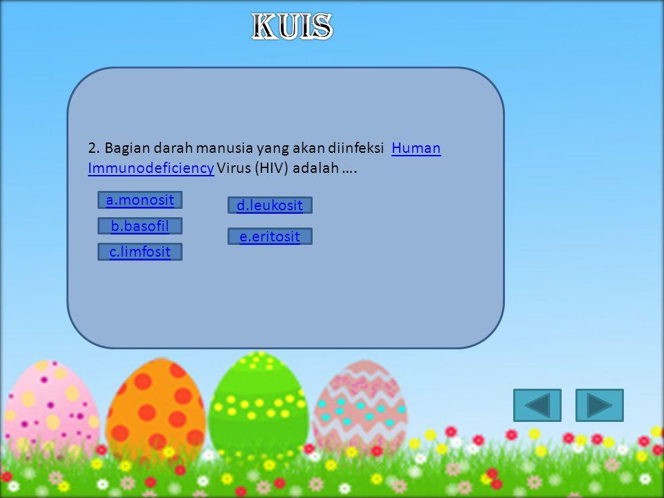 1.Gambar berikut ini merupakan sebuah bakteriofage. Senyawa DNA ditunjukan oleh nomor ….bakteriofage a.1 d.4 b.2 e.5 c.3