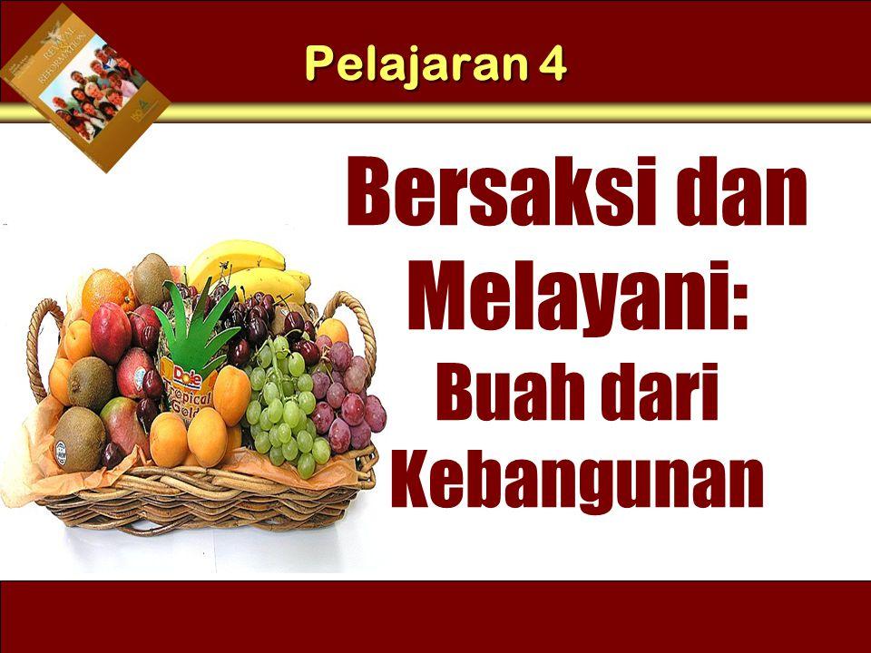 Understand the purposes of marriage Bersaksi dan Melayani: Buah dari Kebangunan 3.
