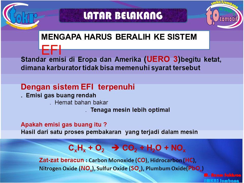 Sistem aliran bahan bakar Terdiri dari tanki, pompa, saringan, pipa saluran, injector, regulator tekanan, dan pipa pengembali Bahan bakar dialirkan dari tanki ke injector oleh pompa elektrik.