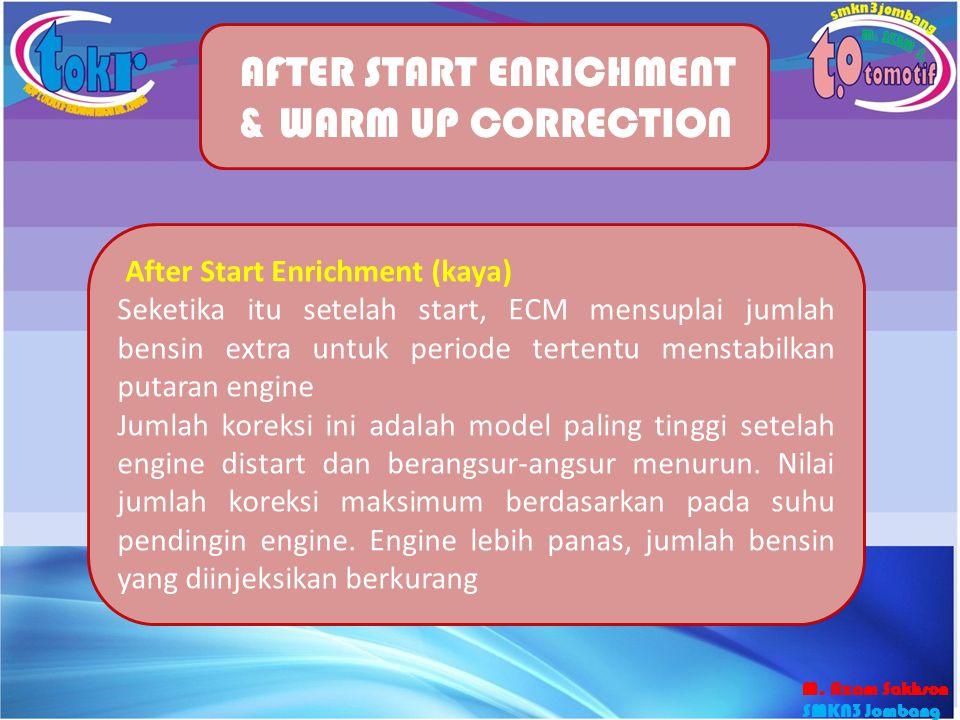 40 AFTER START ENRICHMENT & WARM UP CORRECTION After Start Enrichment (kaya) Seketika itu setelah start, ECM mensuplai jumlah bensin extra untuk perio