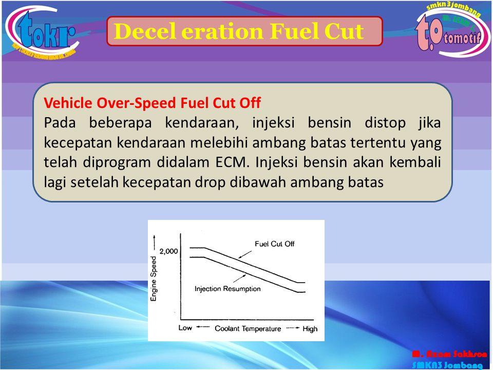 47 Decel eration Fuel Cut Vehicle Over-Speed Fuel Cut Off Pada beberapa kendaraan, injeksi bensin distop jika kecepatan kendaraan melebihi ambang bata