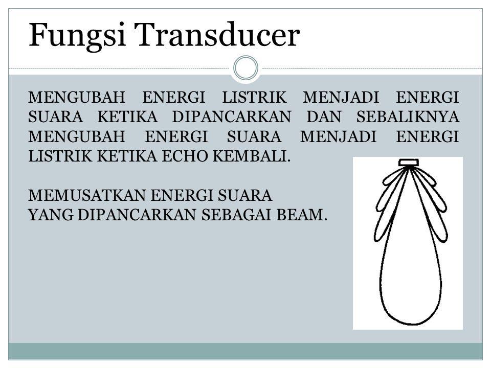 MENGUBAH ENERGI LISTRIK MENJADI ENERGI SUARA KETIKA DIPANCARKAN DAN SEBALIKNYA MENGUBAH ENERGI SUARA MENJADI ENERGI LISTRIK KETIKA ECHO KEMBALI.