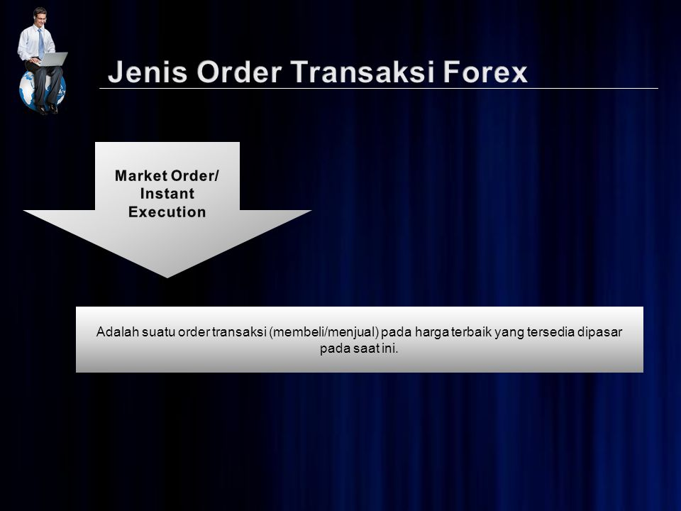 Adalah suatu order transaksi (membeli/menjual) pada harga terbaik yang tersedia dipasar pada saat ini.