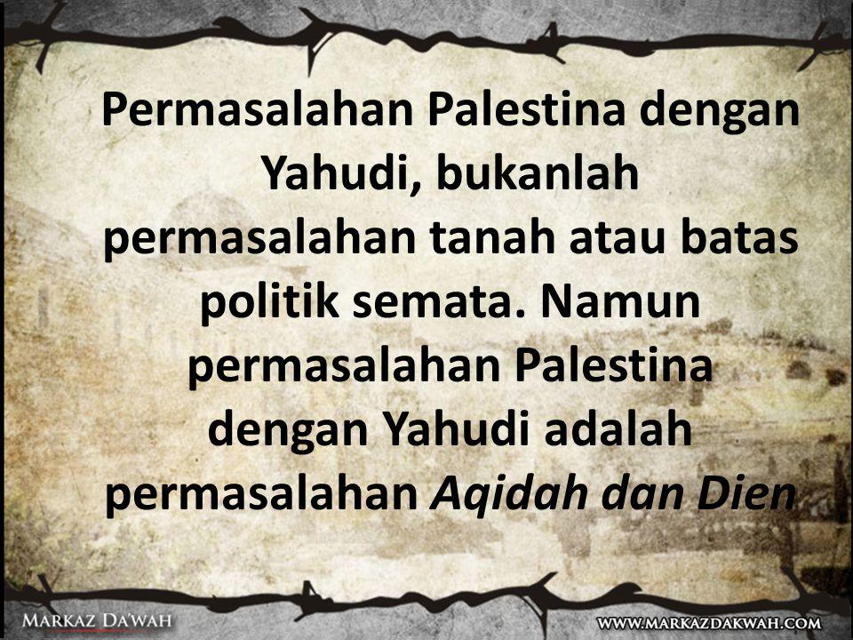 Kecintaan kita kepada Palestina adalah dengan sebab aqidah.