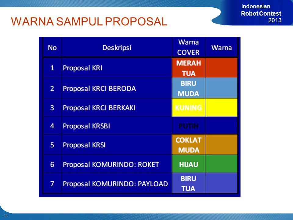 44 Indonesian Robot Contest 2013 WARNA SAMPUL PROPOSAL