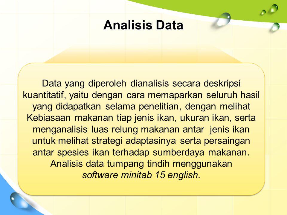 Analisis Data Data yang diperoleh dianalisis secara deskripsi kuantitatif, yaitu dengan cara memaparkan seluruh hasil yang didapatkan selama penelitia