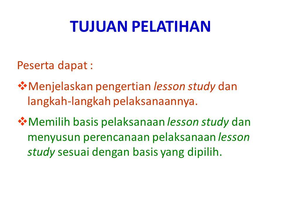 Perencanaan dalam Lesson Study 2.