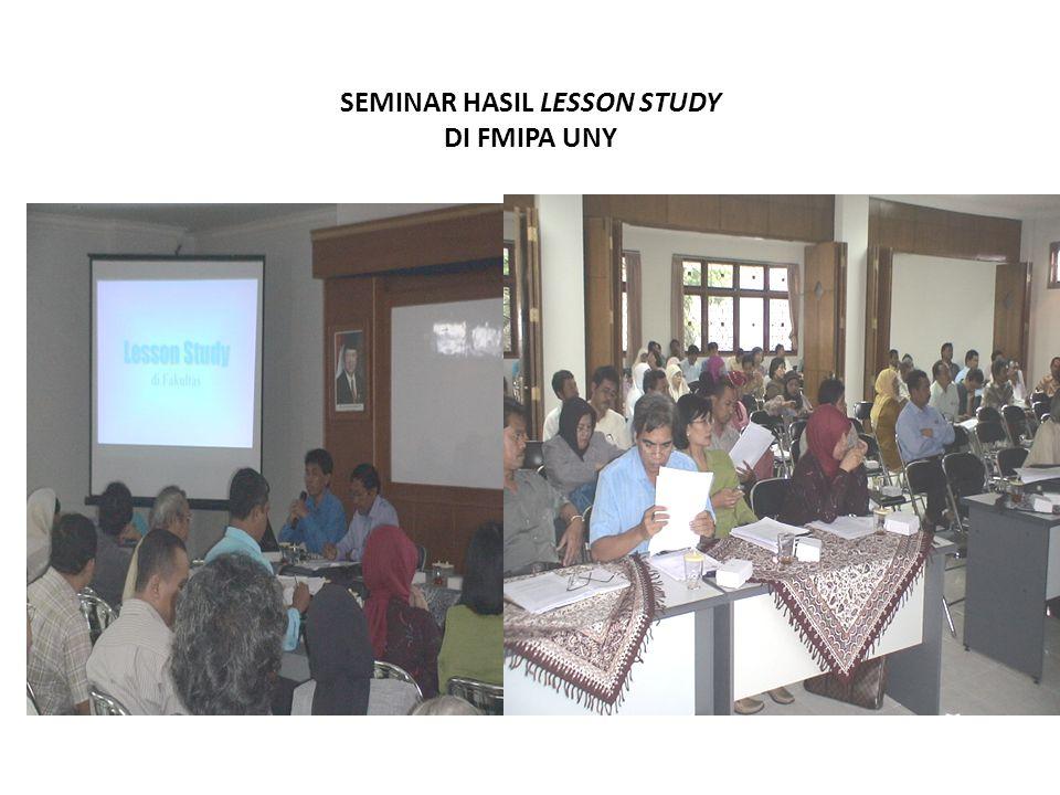 SEMINAR HASIL LESSON STUDY DI FMIPA UNY