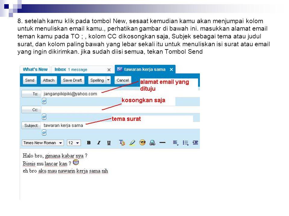 8. setelah kamu klik pada tombol New, sesaat kemudian kamu akan menjumpai kolom untuk menuliskan email kamu., perhatikan gambar di bawah ini. masukkan
