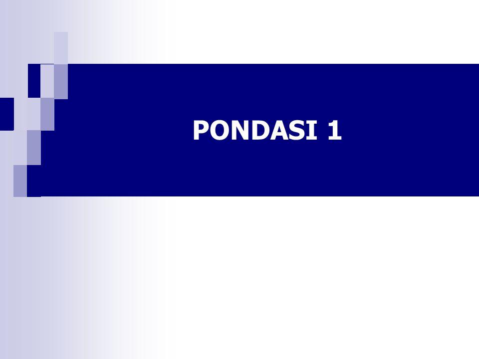 PONDASI 1