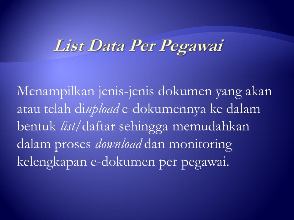 jika ingin menampilkan list data pegawai yang dicari atas nama Drs.