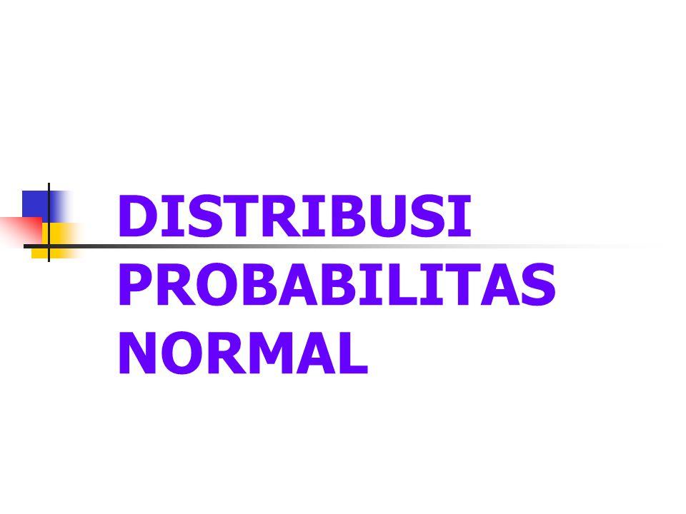 DISTRIBUSI PROBABILITAS NORMAL