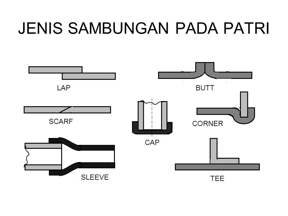 Pada penyambungan patri hal yang paling utama adalah kebersihan, permukaan harus bebas dari kotoran-kotoran, minyak, atau oksida-oksida dan bagian sambungan harus tepat ukuran maupun bentuknya dengan celah untuk bahan pengisi.