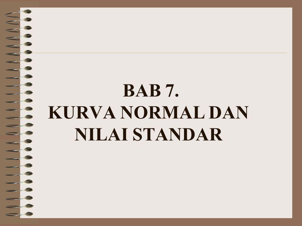 BAB 7. KURVA NORMAL DAN NILAI STANDAR