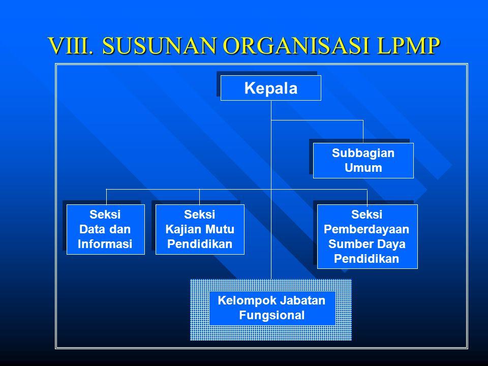 2. Fungsi LPMP (sambungan) d. Fasilitasi lembaga pendidikan dalam pengelolaan sumber daya pendidikan e. Fasilitasi pelaksanaan peningkatan kompetensi
