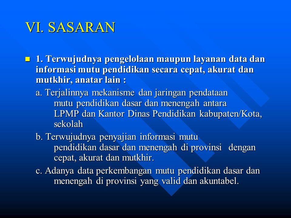 VI.SASARAN  1.