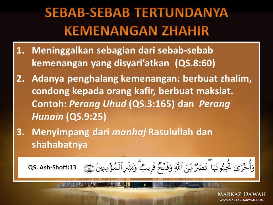  Memenangkan Islam di setiap lini kehidupan dengan DAKWAH dan JIHAD  Memanfaatkan setiap potensi yang dimiliki demi tegaknya Islam  Islam itu tingg