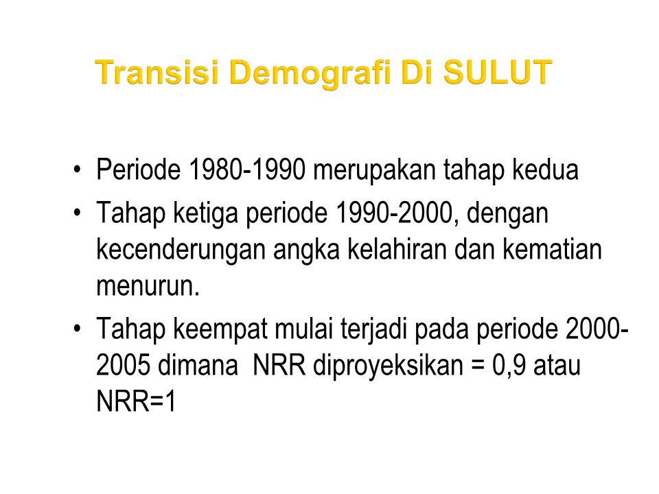 •Periode 1980-1990 merupakan tahap kedua •Tahap ketiga periode 1990-2000, dengan kecenderungan angka kelahiran dan kematian menurun. •Tahap keempat mu