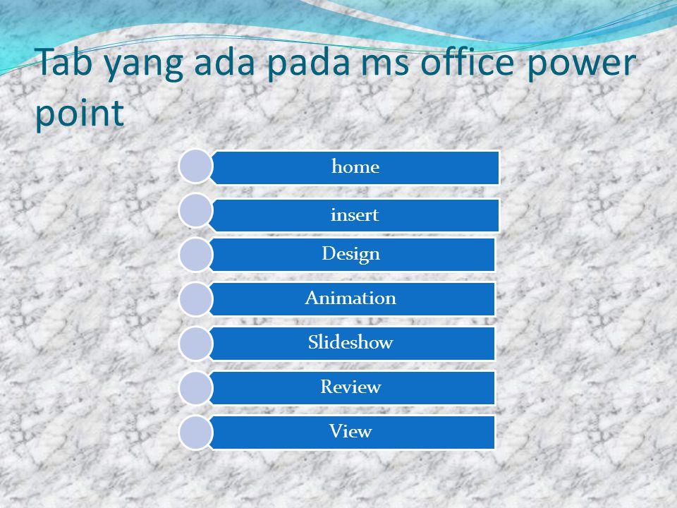 Fungsi yang ada pada tab home  Menu yang ada pada tab home misalnya pengaturan paragraf, font,ukuran font, dll Di bawah ini adalah menu yang ada pada tab home
