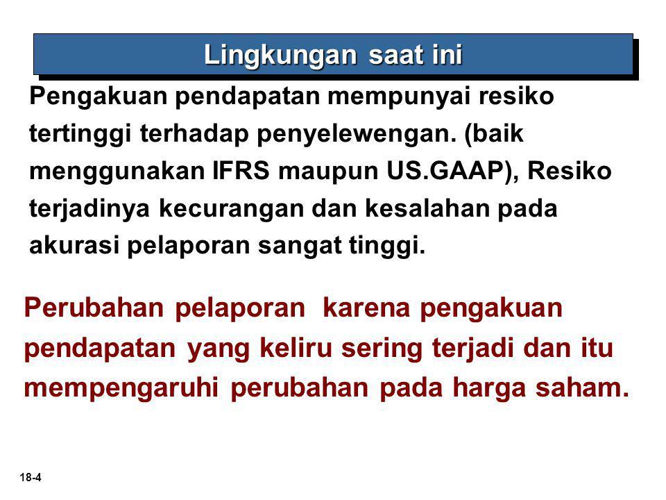 18-5 Prinsip pengakuan pendapatan: Pendapatan diakui Pedoman pengakuan pendapatan.