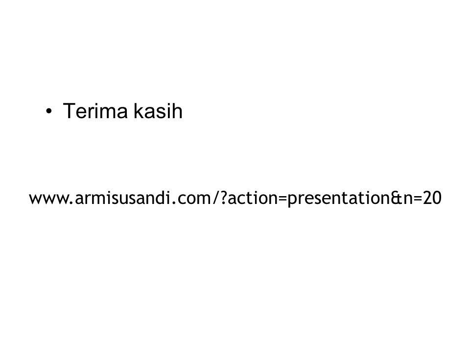 •Terima kasih www.armisusandi.com/?action=presentation&n=20