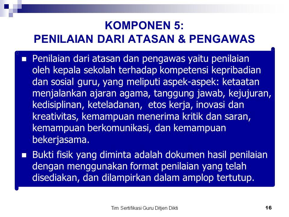 Tim Sertifikasi Guru Ditjen Dikti15 b.