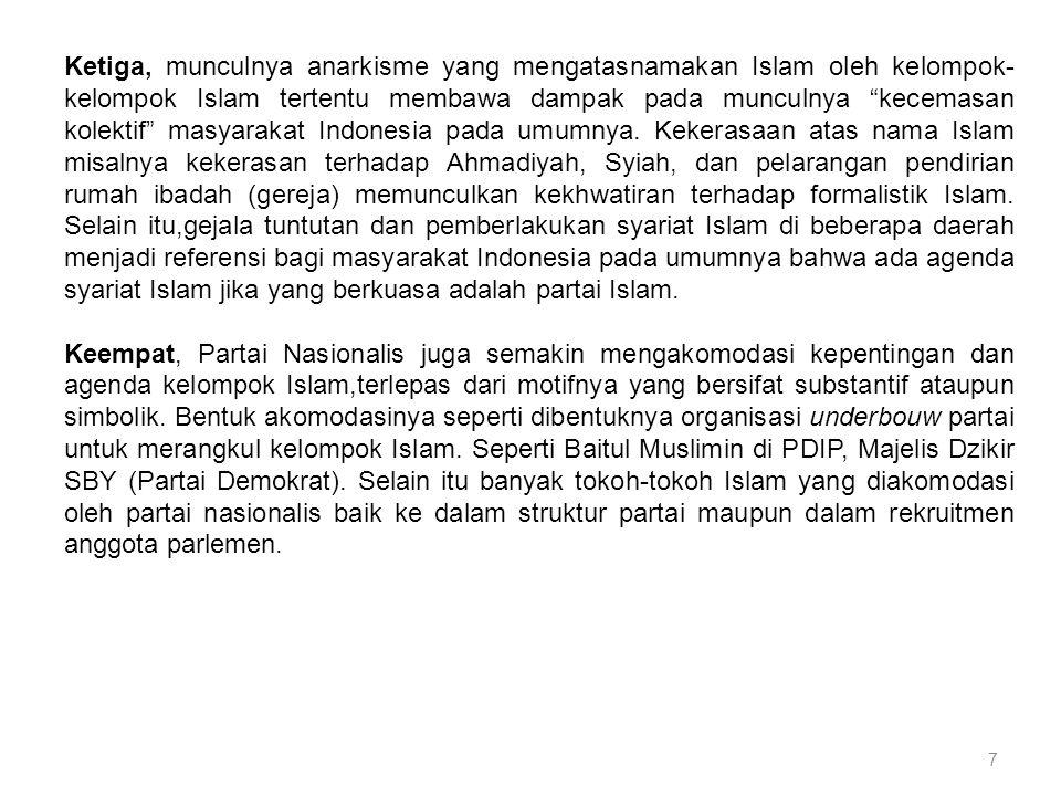 8 Prediksi 2014.(1)Pemilu 2014 adalah pertarungan antara partai dan tokoh nasionalis.