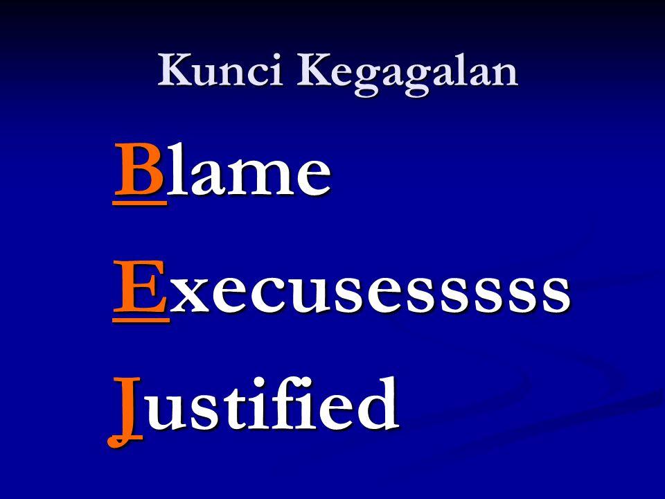 Kunci Kegagalan Blame Execusesssss Justified