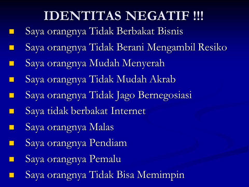 IDENTITAS NEGATIF !!.