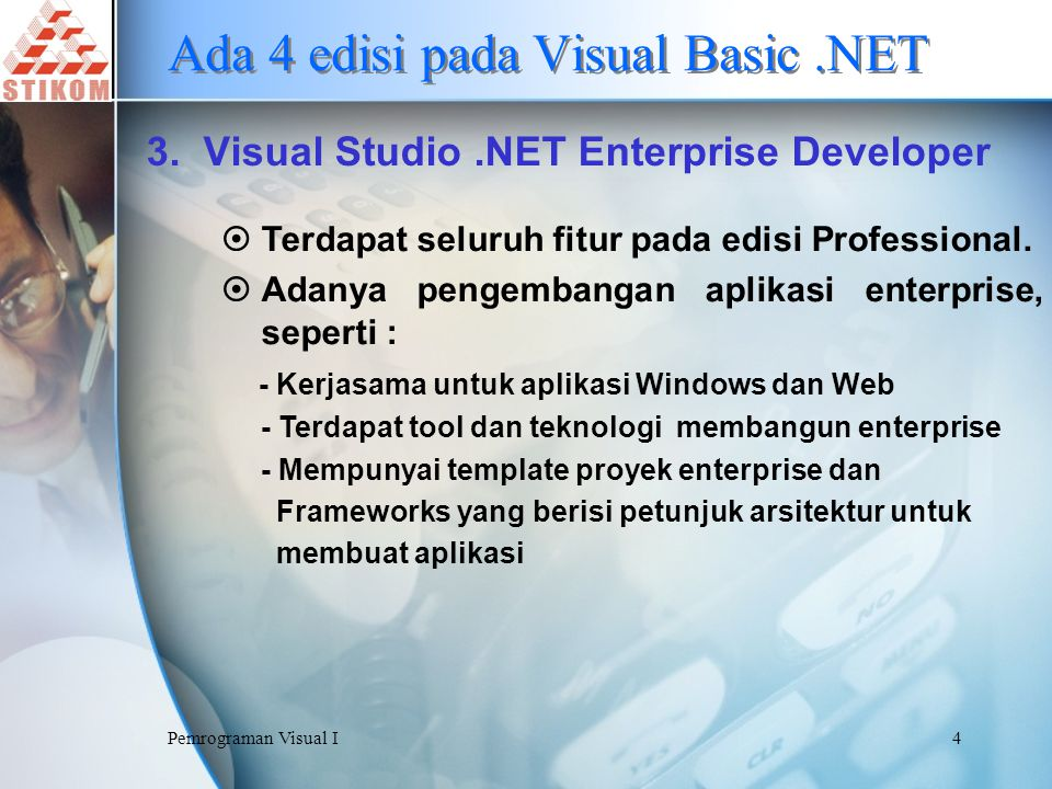 Pemrograman Visual I5 Ada 4 edisi pada Visual Basic.NET 4.