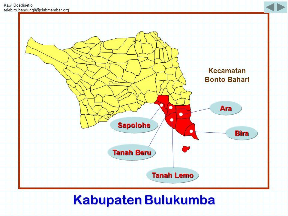 Kawi Boedisetio telebiro.bandung0@clubmember.org Bira Ara Tanah Beru Tanah Lemo Sapolohe Kecamatan Bonto Bahari Kabupaten Bulukumba