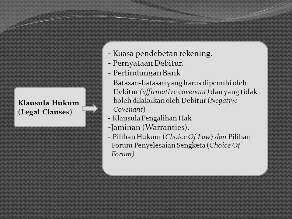 Klausula Hukum (Legal Clauses) - Kuasa pendebetan rekening.