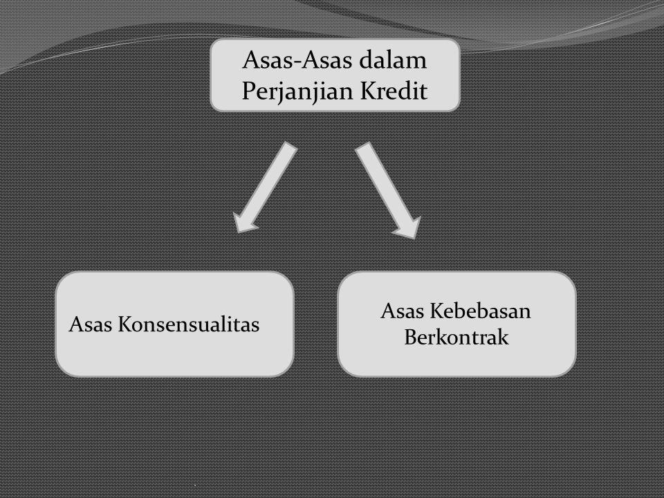 . Pihak-pihak dalam perjanjian kredit Pemberi Kredit Atau kreditur adalah bank atau lembaga pembiayaan lain selain bank Penerima Kredit atau debitur, yaitu pihak yang bertindak sebagai subyek hukum.