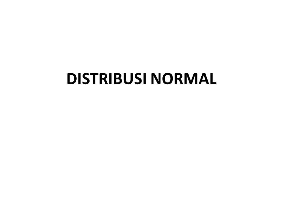 Distribusi normal yang yang dikenal dengan nama distribusi Gaussian merupakan suatu kurva teoritis yang secara ekstensif digunakan oleh orang- orang statistik karena tiga pertimbangan utama: 1.