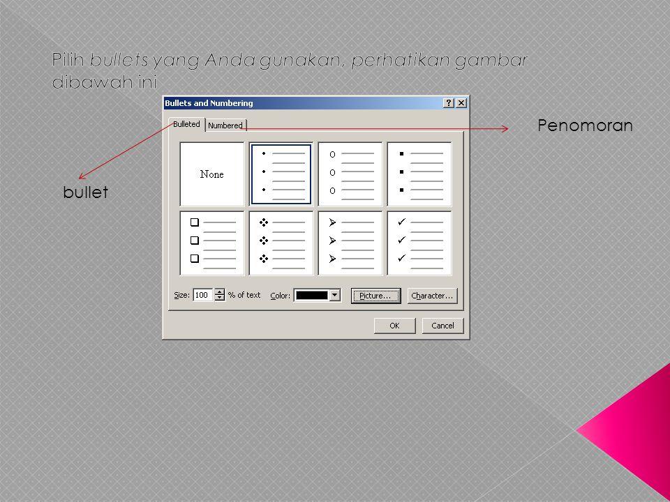 • Pilih text box/obyek yang akan diberikan animasi seperti pada nomor 1 gambar diatas.