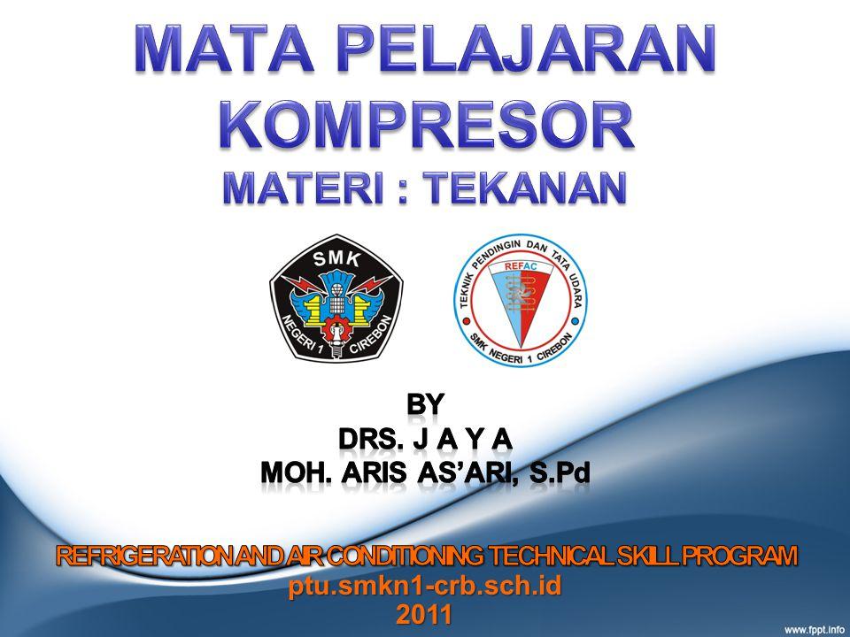 CHAPTER -1 PRESSURE / TEKANAN Defenisi Pressure (tekanan) adalah gaya yang diberikan pada per unit area.