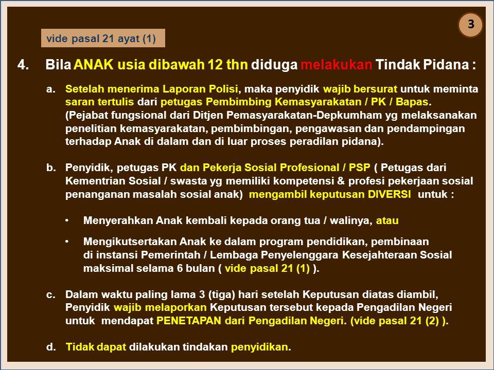 INP INDONESIAN NATIONAL POLICE •Untuk kepentingan umum pejabat Polri dlm melaksanakan tugas dan wewenangnya dpt bertindak menurut penilaiannya sendiri.