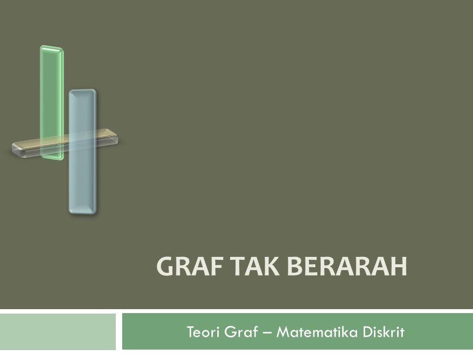 Graf Tak Berarah (Undirected Graph) Contoh soal: Gambarlah K 2, K 3, K 4, K 5, K 6 !