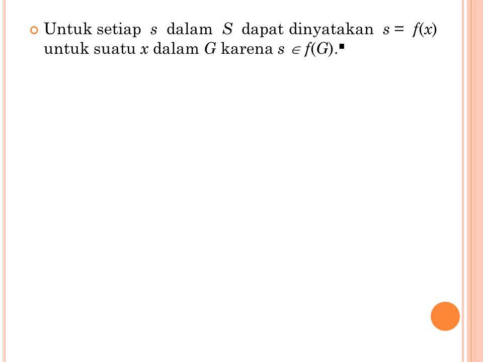LATIHAN Berikan contoh bahwa untuk S dan T grup bagian dari grup G maka ST tidak perlu grup bagian dari G.