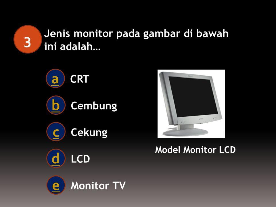 Salah satu diantara perangkat OutPut Komputer di bawah ini yang benar adalah… 2 Mouse a Scaner b Flash Disk c Printer d Keyboard e