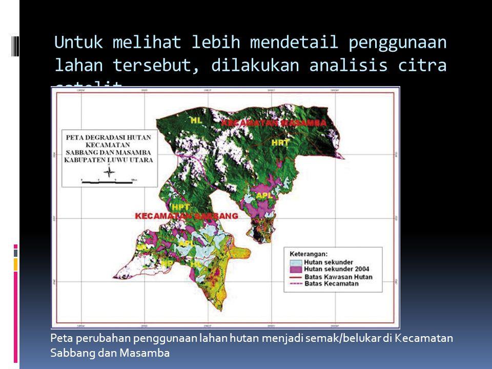 Peta kelas penggunaan lahan Kabupaten Luwu Utara